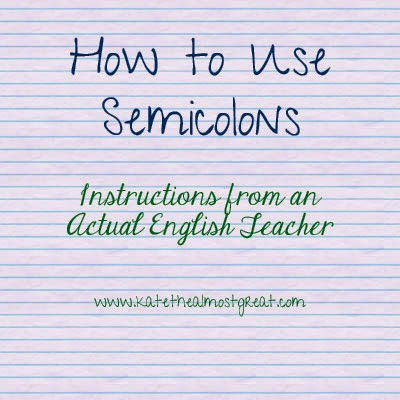 how to use semicolons