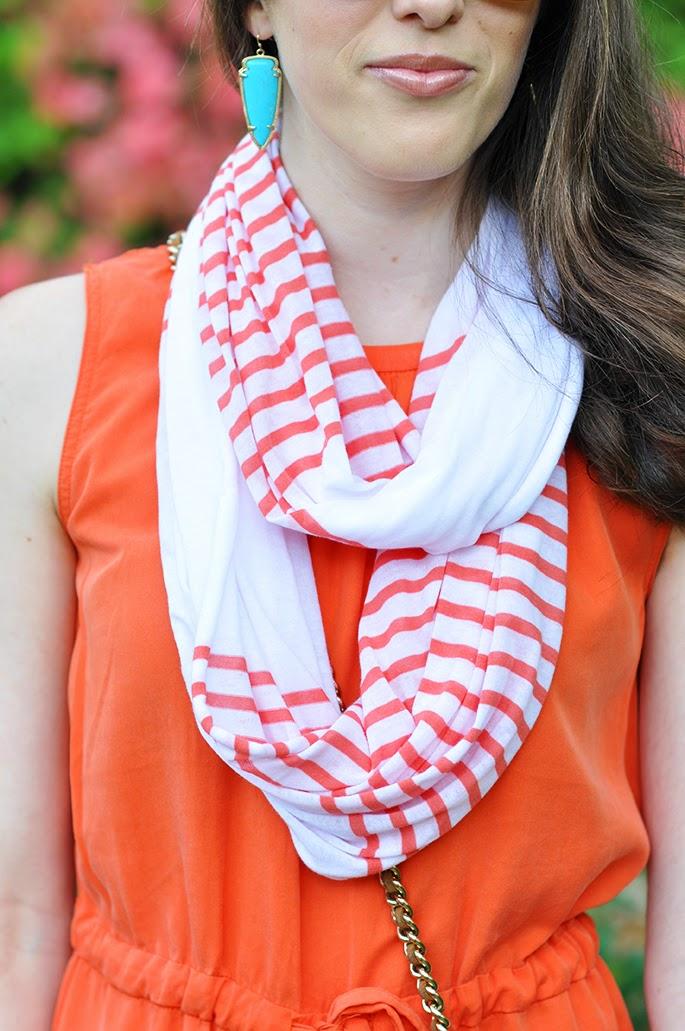 Gap stripe infinity scarf