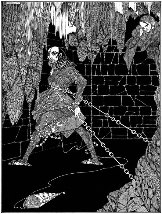 Edgar Allan Poe  - The Cask of Amontillado - Harry Clarke - Imagen de Dominio Público