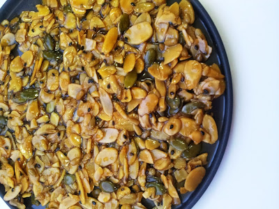 RESEPI: Nutty Thins / Florentine Cookies / Caramel Nuts Bar / Almond
