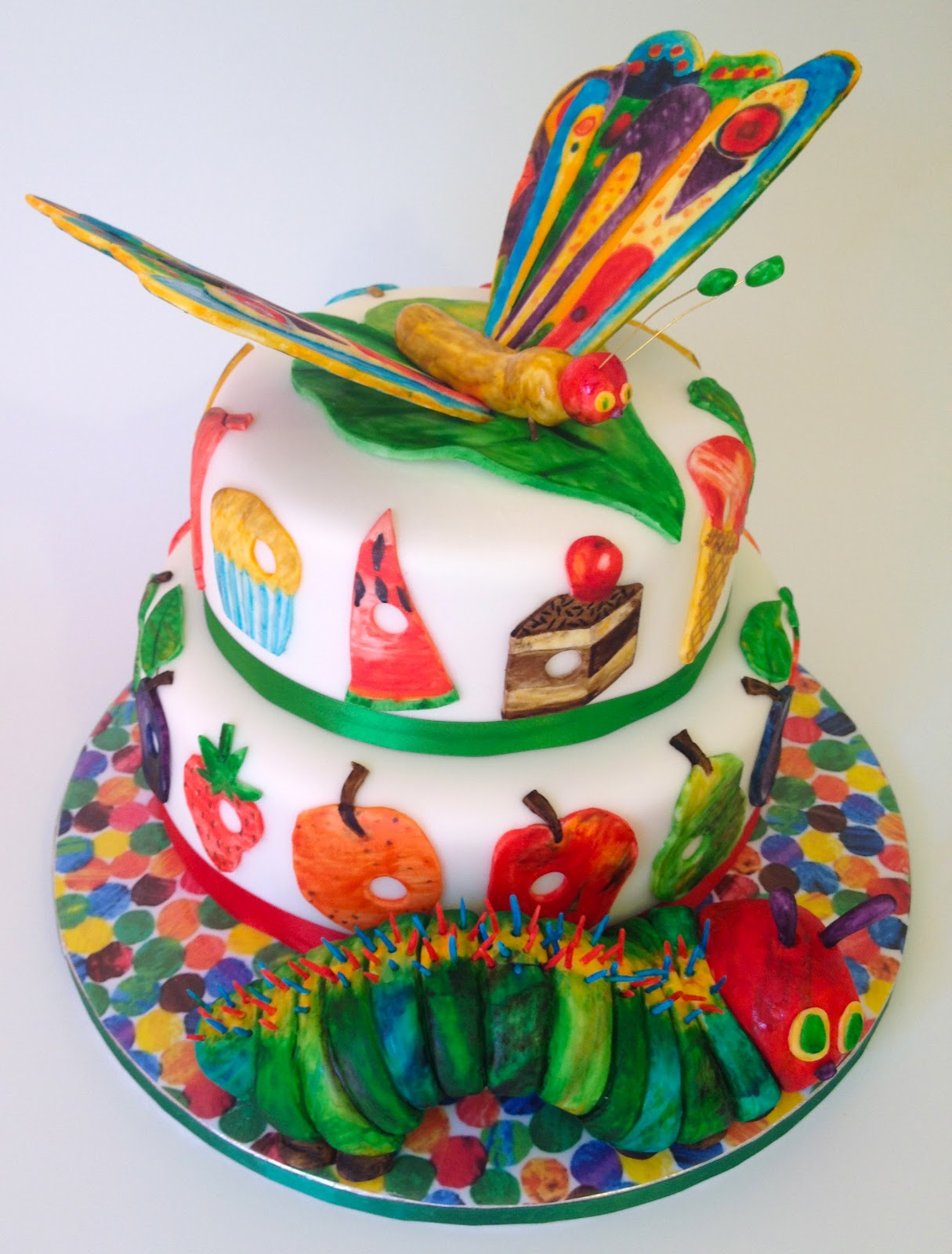 Very Hungry Caterpillar Butterfly Cake Elaine's Sweet Life: T...