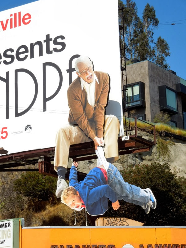Bad Grandpa dangling kid special billboard