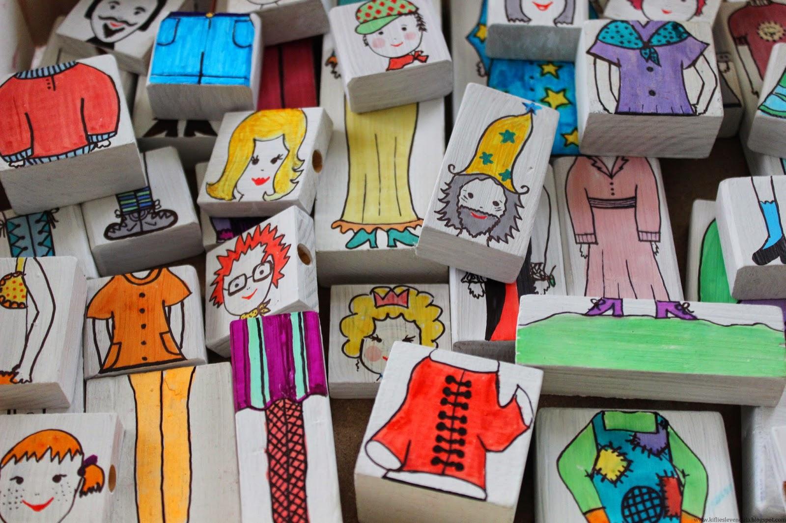 Vicces figurák lehasznált építőkockákból