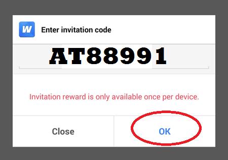 masukan kode untuk dapat dolar