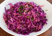 Salada de Repolho Roxo (vegana)