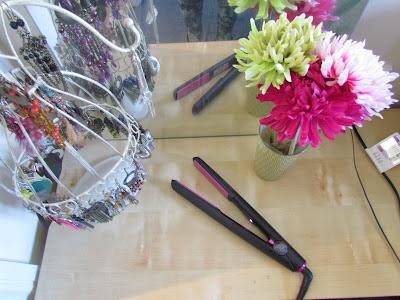 Hair styling corner of bedroom