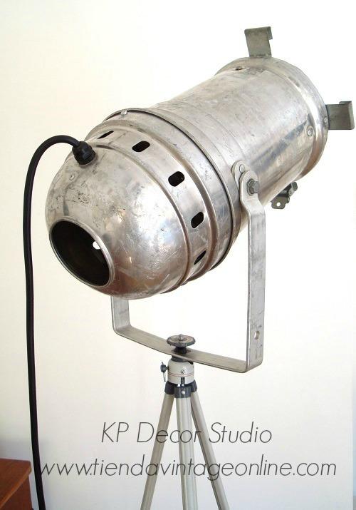 Focos antiguos estilo industrial, comprar focos de cine antiguos en valencia. decoración estilo industrial