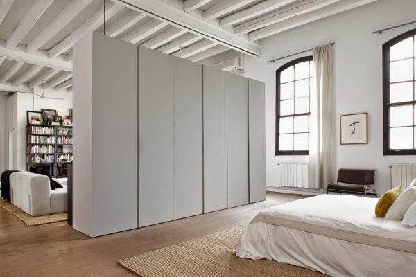 dormitorio, loof, escandinava