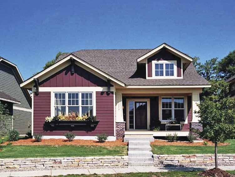 Characteristics and features of bungalow house plan for Single story house plans with front porch