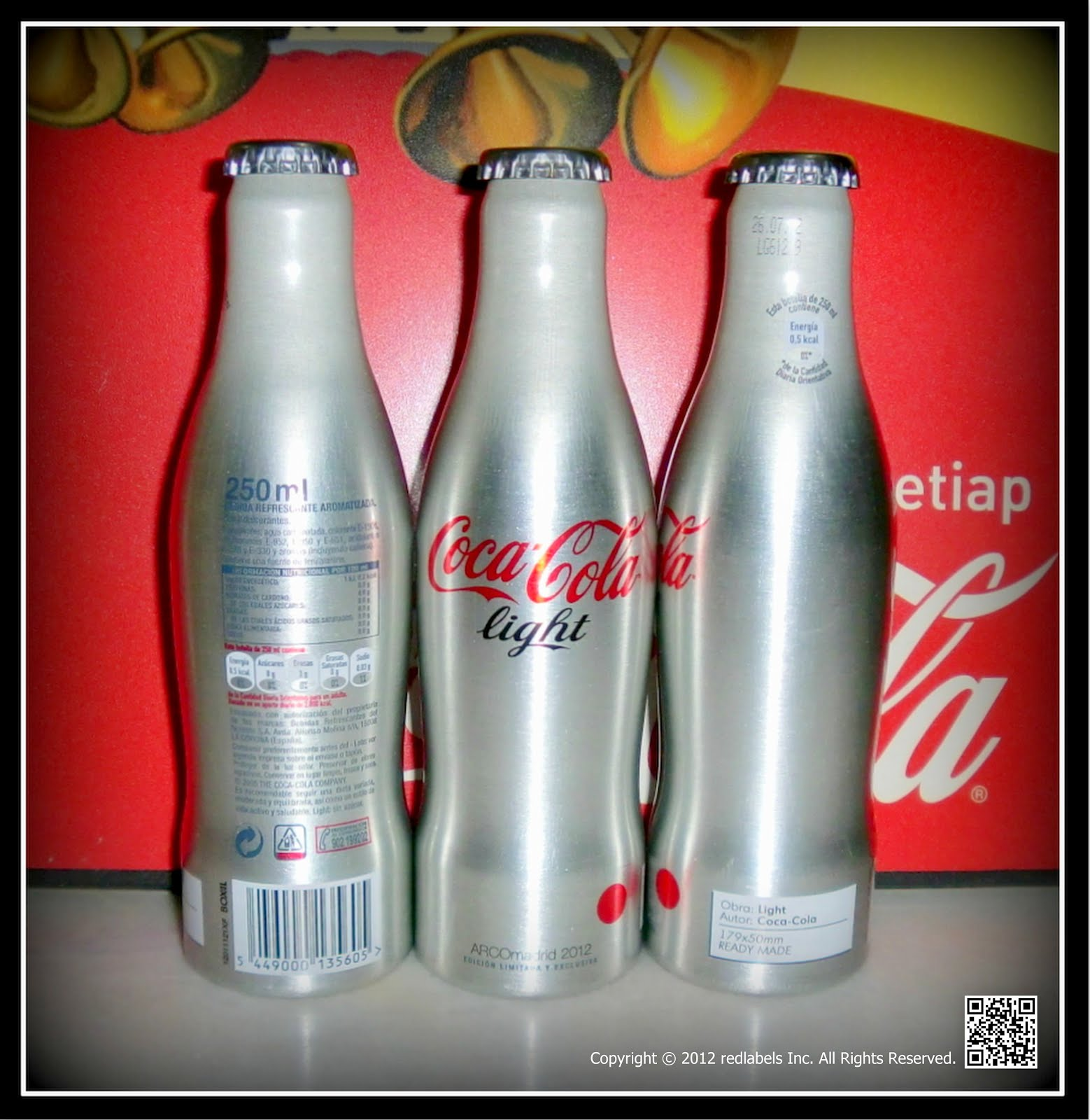 aluminum bottle collector club coca cola light arcomadrid limited edition aluminum bottle spain. Black Bedroom Furniture Sets. Home Design Ideas