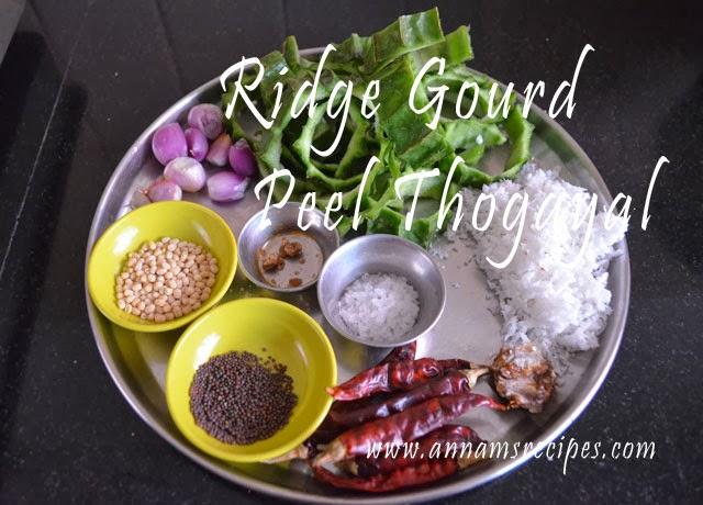 Ridge Gourd peel Thogayal