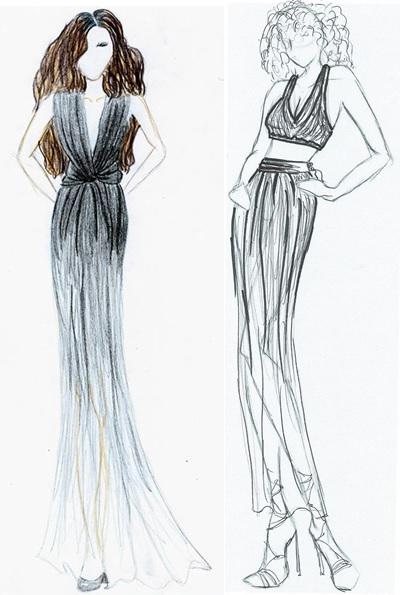 Bocetos de moda fashion sketches fashion design blog for Dibujos de disenos de moda