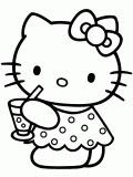 Desenho como desenhar hello kitty de vestidos pintar e colorir