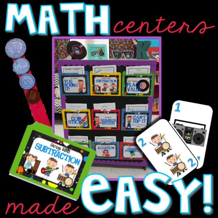 Elementary Shenanigans: Math Centers Made Easy: Organization {Post #2}