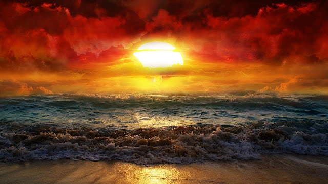 Beautiful Sunrise on Beach Wallpaper HD