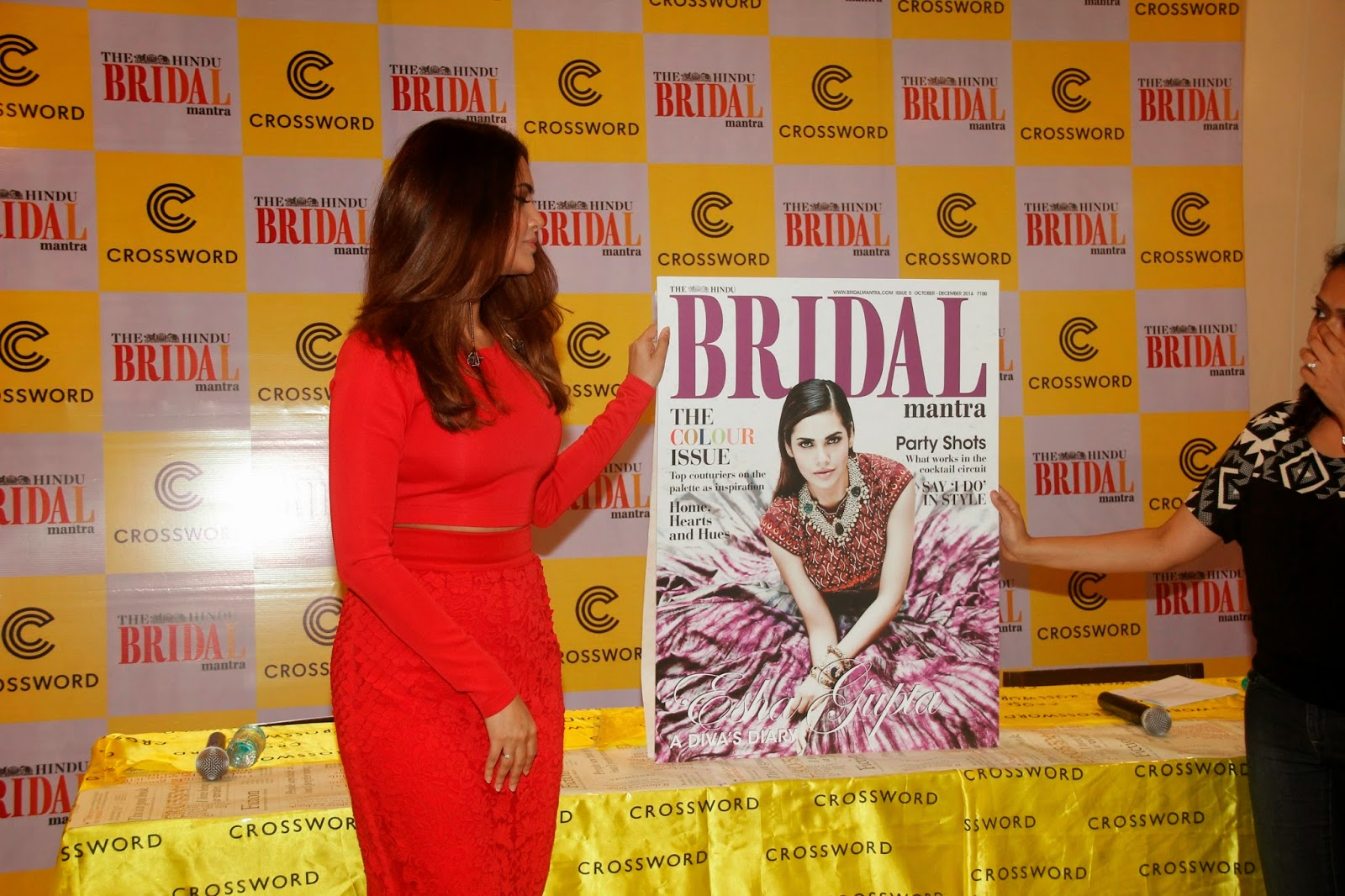 Esha Gupta at 5th Hindu Bridal Mantra Magazine Cover Stills