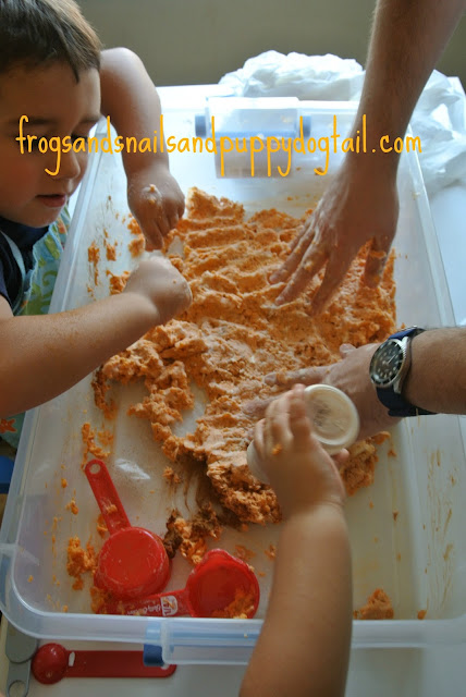 Pumpkin Spice Clean Mud- Fall Sensory Table