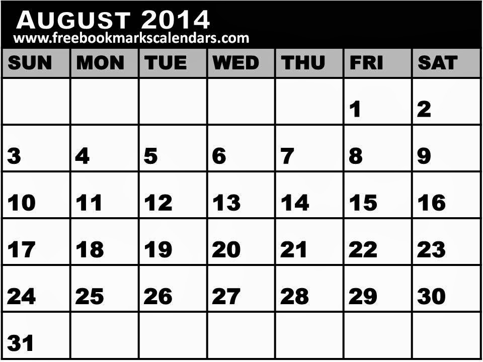 Printable August 2014 Calendar/page/2 | New Calendar Template Site