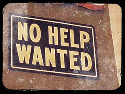 No Help Wanted sign