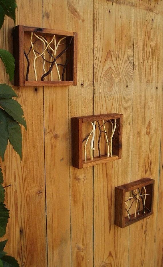 Quadro decorativo reutilize madeira rústica