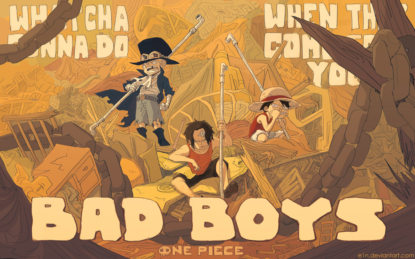 Bad Boys Sabo Portgas D Ace And Monkey Luffy