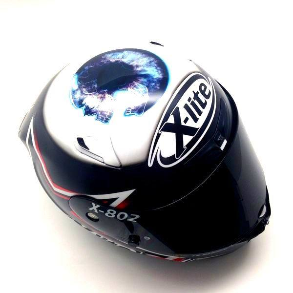 racing helmets garage x lite x 802r a polita 2015 by lb. Black Bedroom Furniture Sets. Home Design Ideas