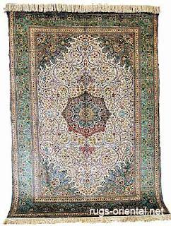 A Silk Turkish Rug