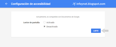 Configuración de accesibilidad de una cuenta de Google