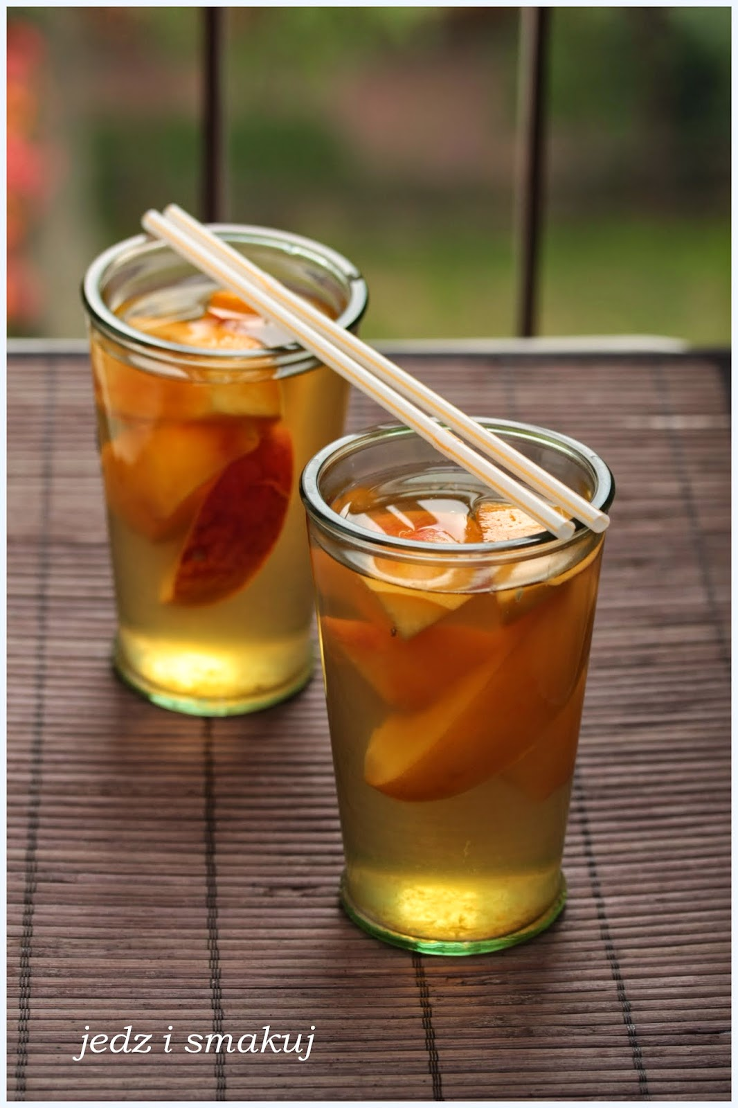Brzoskwiniowa herbata zimna