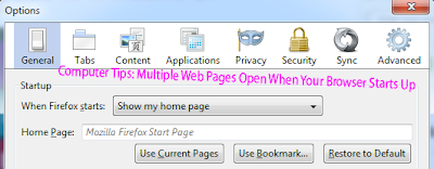 Computer Tips: Multiple Web Pages Open When Your Browser Starts Up