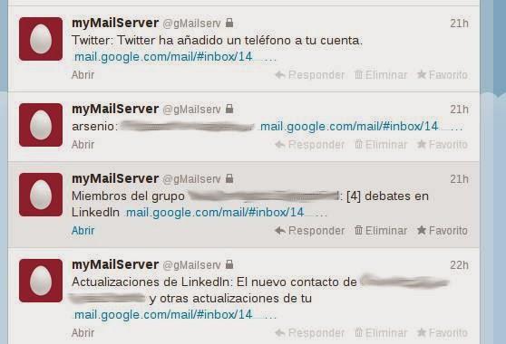gmail desde twitter
