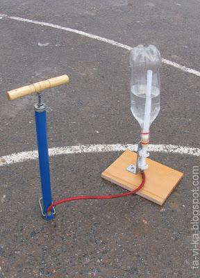 Реактивная ракета из пластиковой бутылки - опыты по физике