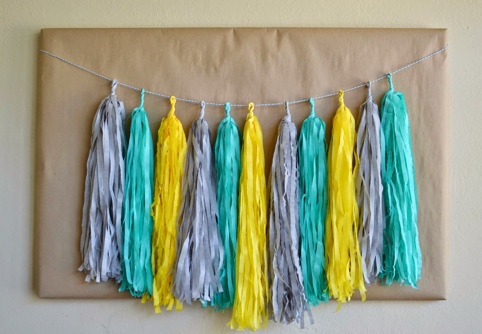 Mommy Testers, crepe paper tassel garland
