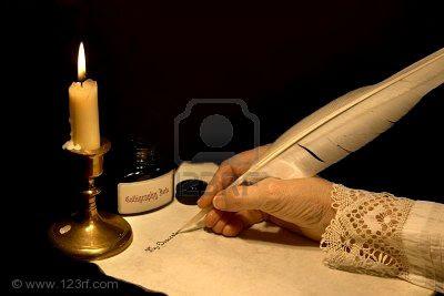 Como escribir con una pluma y cortarla