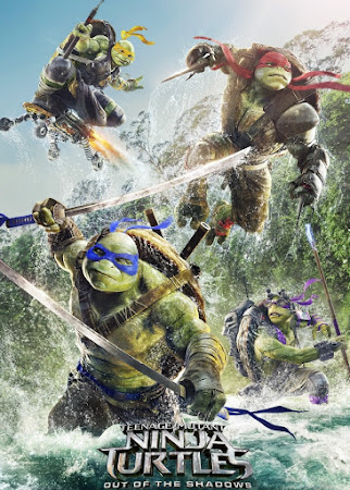 Poster Of Teenage Mutant Ninja Turtles: Out of the Shadows 2016 In Hindi Bluray 720P Free Download