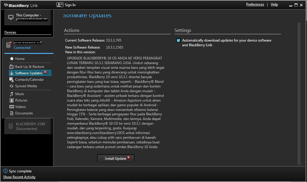 Update resmi Q5, Q10, Z10, Z3 dan Z30 versi 10.3.1.1565 ...