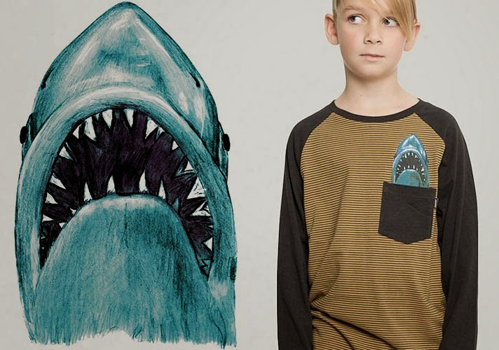 Shark print by Munster Kids for AW14 kidswear collection
