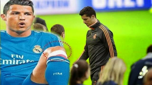 اصابة رونالدو في ركبته تحرمه من الكلاسيكو ضد برشلونة و نصف نهائي الابطال
