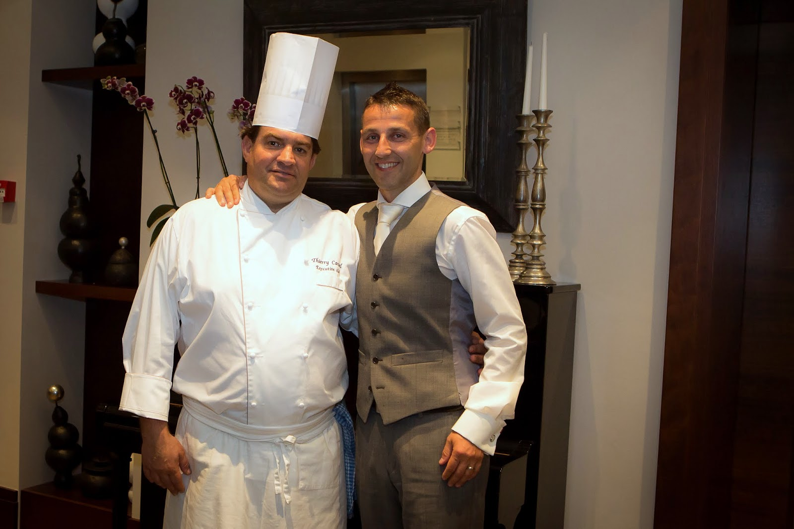 Chef Thierry Caruel and Groom Jonathon Hawthorne
