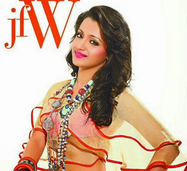 Trisha JFW Magazine Cover Page Photos