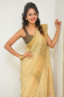Actress Shanvi Latest Pictures in Saree at Harinath Wedding Reception  252819)