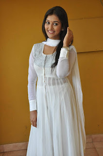 Pooja Jhaveri lovely White Trasnarpent Salwar at L7 Movie Launch
