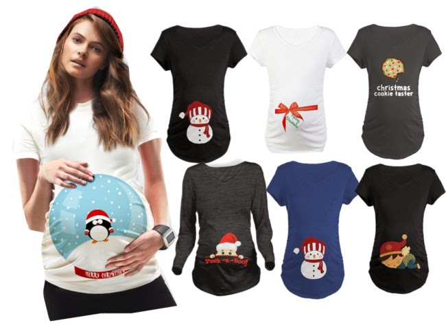 personalizadas-roupas-femininas-christmas t-shirts-camisetas maternidade natal-camisetas natal gravidas