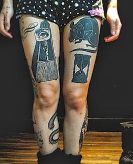 Ideias de tatuagens femininas na perna