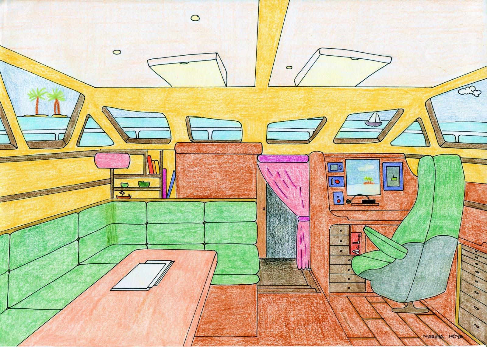 Qu arte quillo 4eso pespectiva c nica frontal en el interior de un veh culo ejemplos - Habitacion en perspectiva conica ...