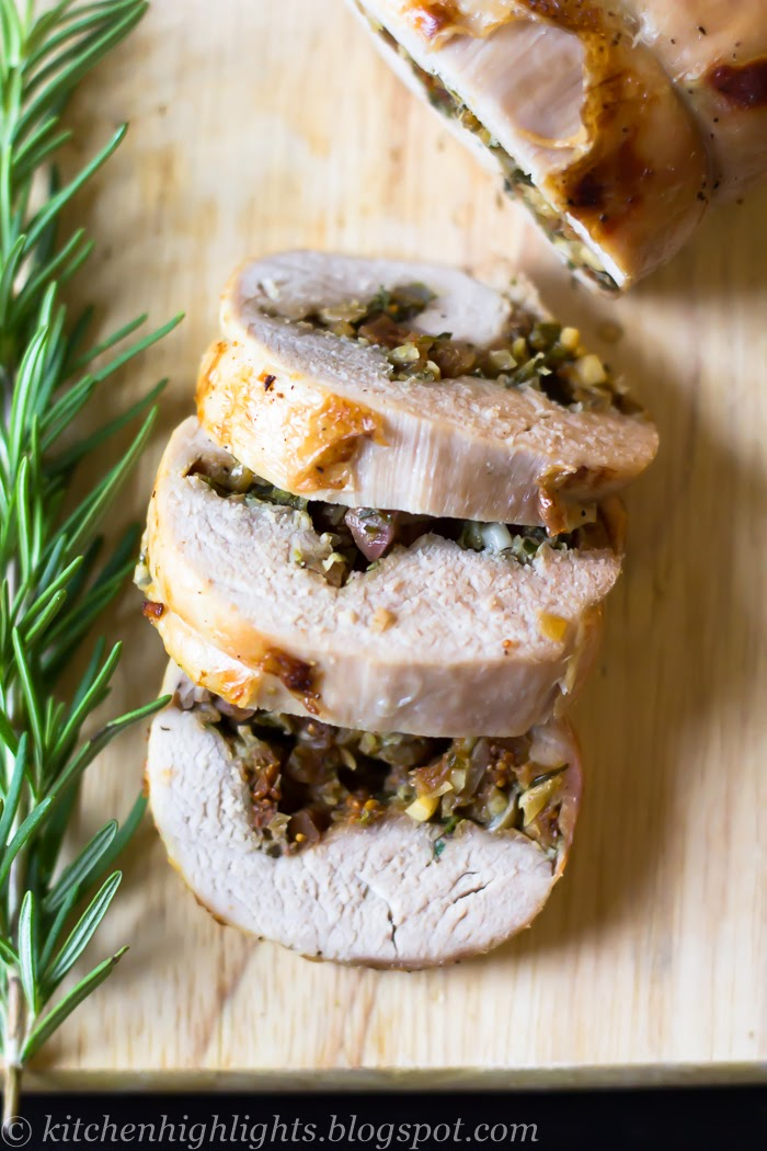 With an earthy stuffing of fresh herbs such as rosemary, thyme, parsley and sweet red grapes, this pork roulade recipe is perfect for special occasions or the Sunday dinner