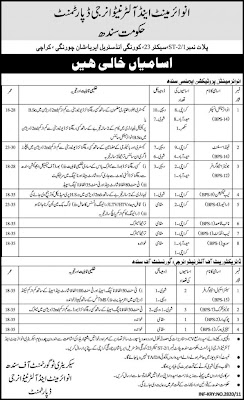 Jobs in Govt Of Sindh