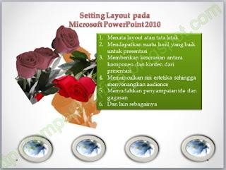 cara Mengatur Layout atau tata letak pada MS PowerPoint 2010