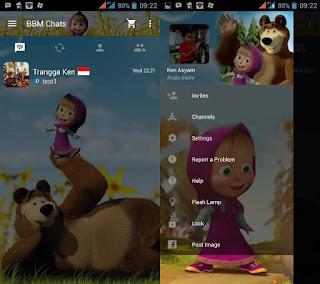 BBM Mod Tema Masya & The Bear (Clone)