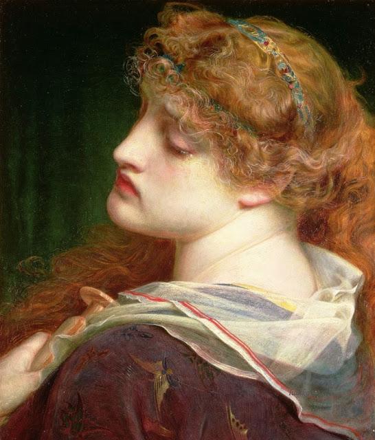 Mary Magdalene,Anthony Frederick Sandys, beautiful girl
